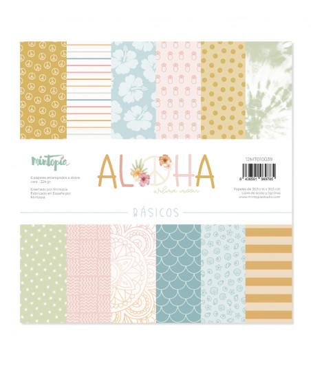 "MINTOPIA - Kit 12""x12"" Papeles básicos Aloha"