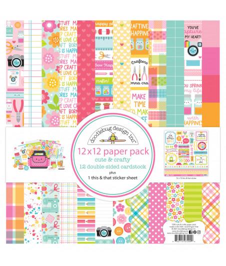 DOODLEBUG - Cute & Crafty - 30x30 Inch Paper Pad