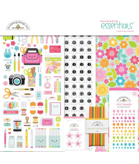 DOODLEBUG Design - Cute & Crafty 12x12 Inch Essentials Kit