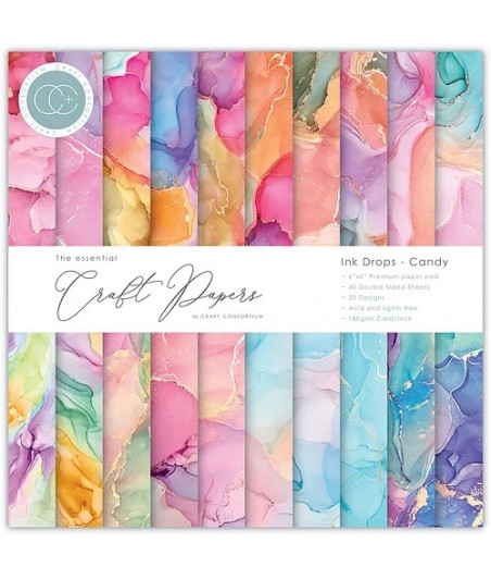 THE ESSENTIAL CRAFT PAPERS - Drops Candy - 6x6 Inch Paper Pad
