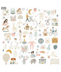 LORA BAILORA -  Die cuts ilustraciones BABY M