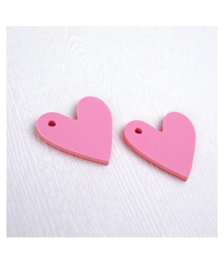 RITA RITA - Corazón metacrilato rosa - 1 PEZZO