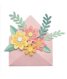 SIZZIX - Thinlits die set Flowers envelope