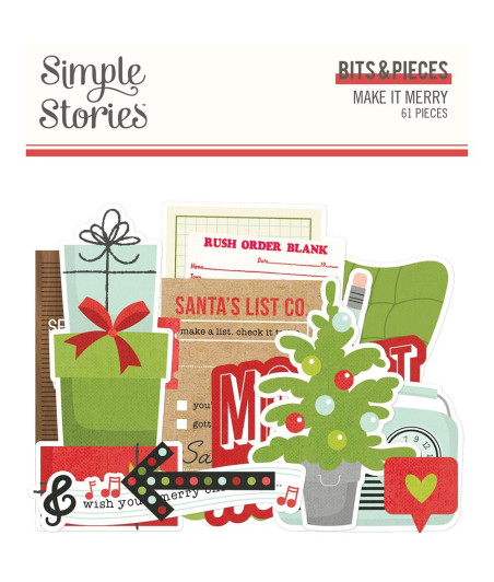 SIMPLE STORIES - Make it Merry Bits & Pieces