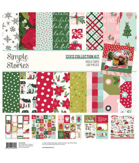"""SIMPLE STORIES - Holly Days - Collection Kit 12""""x12"""""""