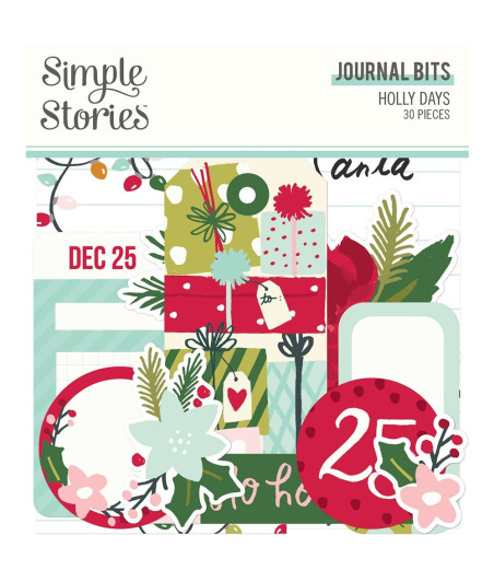 SIMPLE STORIES - Holly Days Journal Bits