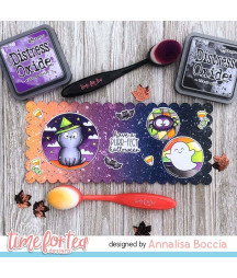 TIME FOR TEA - Spooky Circles Clear Stamps