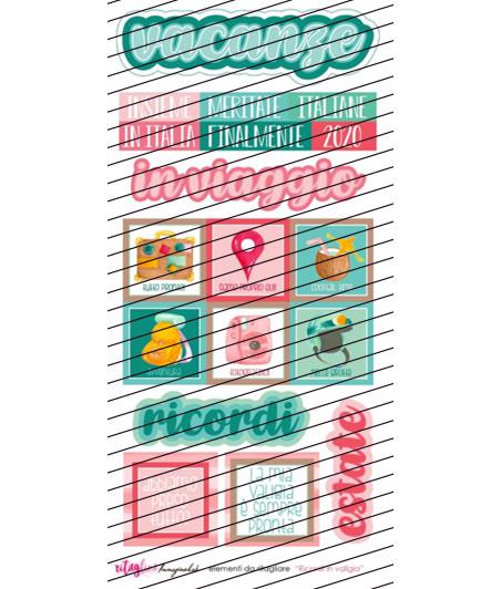 """RitagLINE per CartoLINE """"Ricordi in valigia"""" by LaRoRi (disegni)"""