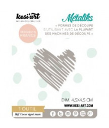 KESI'ART - Coeur signé main