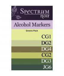 SPECTRUM NOIR - 6 Pen Set - Greens