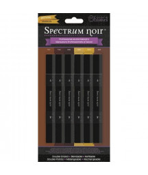 SPECTRUM NOIR - 6 Pen Set - Browns