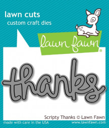 LAWN FAWN - Scripty Thanks