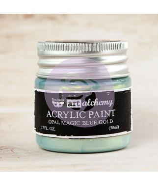 Prima Finnabair Art Alchemy Acrylic Paint - Opal Magic - Blue-Gold