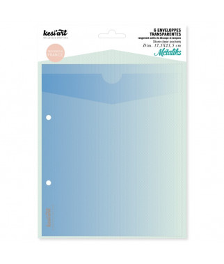 KESI'ART - Enveloppes transparentes de rangement