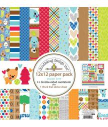 DOODLEBUG - Puppi Love - 20x20 Inch Paper Pad
