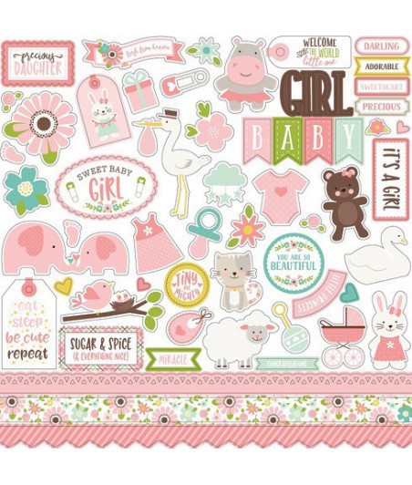 ECHO PARK - Sweet Baby Girl 12x12 Inch Element Stickers