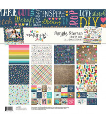 SIMPLE STORIES - Crafty Girl -  Collection Kit 12x12