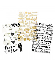 SIMPLE STORIES - Always & Forever - 4x6 Clear Stickers