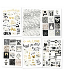 SIMPLE STORIES - Always & Forever - 4x6 Stickers