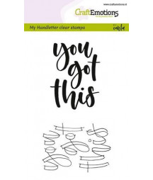 CRAFTEMOTIONS - Handletter - You got this