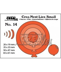 CREALIES - Balloons round CNLS14