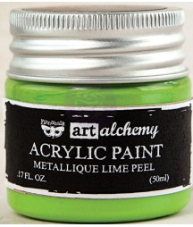 Prima Finnabair Art Alchemy Acrylic Paint -metallique lime peel