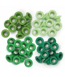 WE R MEMORY KEEPERS - Standard Eyelets - Green