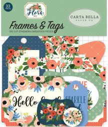 CARTA BELLA -  Flora no.2 -  Frames & Tags