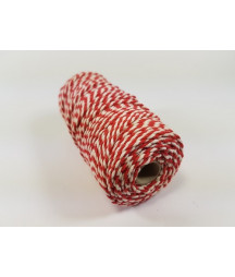 CRAFTEMOTIONS - Twine 2 mm x 43 m  - Red White