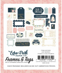 ECHO PARK -  Just Married Frames & Tags Ephemera