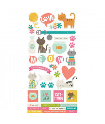 SIMPLE STORIES - Life is Purrfect - 6x12 Inch Sticker