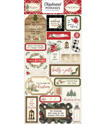 CARTA BELLA - Christmas 6x12 Inch Chipboard Phrases