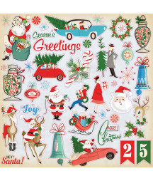 CARTA BELLA - A Very Merry Christmas - 12x12 Inch Element Stickers