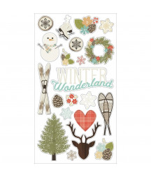 SIMPLE STORIES - Chipboard Frames - Winter Wonderland