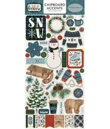 CARTA BELLA -  Let It Snow 6x13 Chipboard Accents