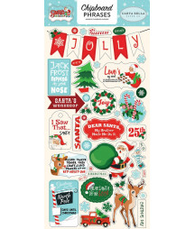 CARTA BELLA - Santas Workshop 6x13 Chipboard Phrases