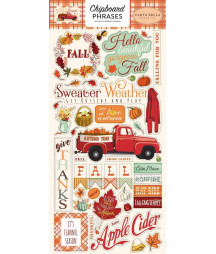 CARTA BELLA - Fall Break 6x12 Inch Chipboard Phrases