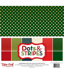 ECHO PARK -  Christmas Gold Foil Dot 12x12 Inch Collection Kit
