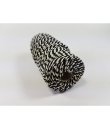 CRAFTEMOTIONS - Twine 2 mm x 43 m  - Black White