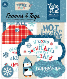 ECHO PARK - Celebrate Winter Frames & Tags Ephemera
