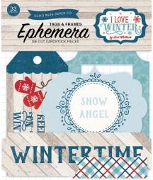 ECHO PARK - I Love Winter Frames & Tags Ephemera