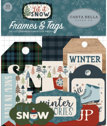 CARTA BELLA -  Let It Snow Frames & Tags Ephemera