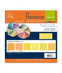 "FLORENCE - Florence cardstock 230g 6x6"" x24 multipack Yellow"