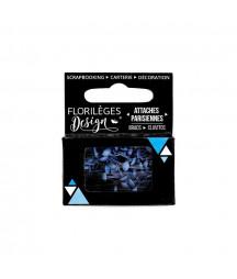 FLORILEGES - Mini attaches parisiennes Bleu Acier