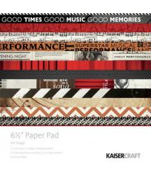 KAISERCRAFT - On Stage - 6 1/2 x 6 1/2  Paper Pad