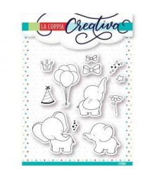 COPPIA CREATIVA - Elefanti-timbro