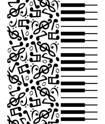 DARICE - Embossing template 10,8x14,6cm Piano notes
