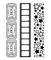 DARICE - Embossing template 10,8x14,6cm borders movie