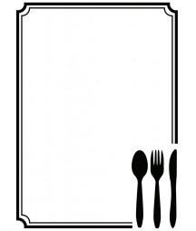 DARICE - Embossing template 10,8x14,6cm Cutlery