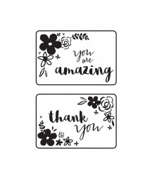 "KAISERCRAFT - Embossing folder 4x6"" mini floral card fronts"